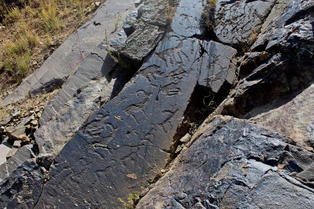 Petroglyphs in Aksu-Zhabagly National Reserve