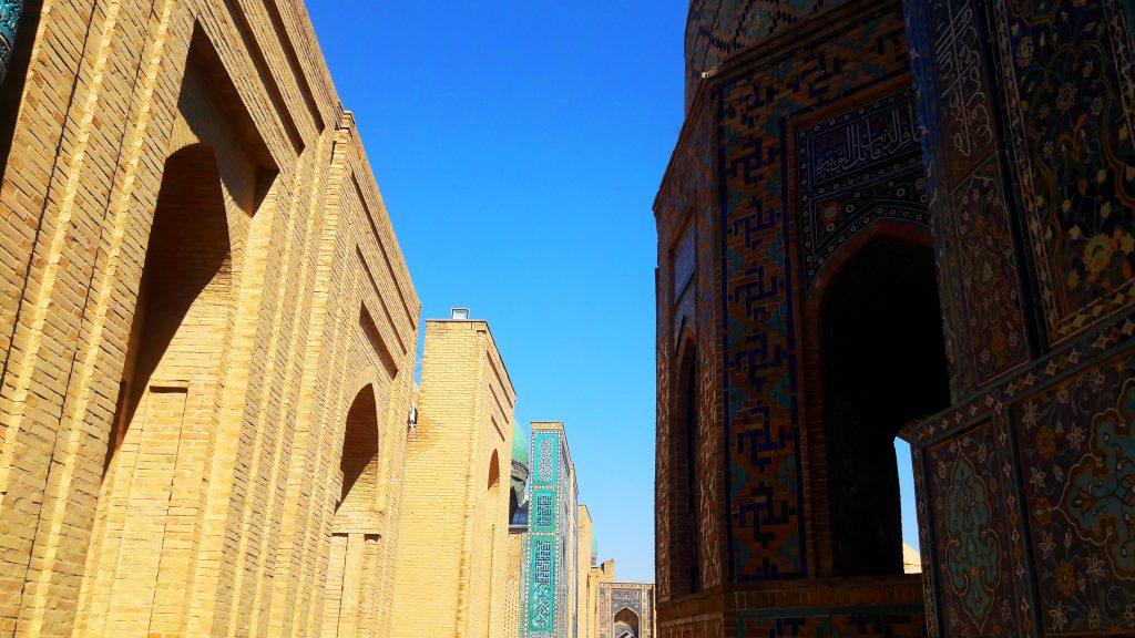 Info Shymkent - Main road of Shah-i-Zinda with beautiful mausoleums.
