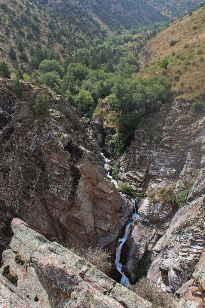Kshi waterfall in the Uiken Valley of Aksu-Zhabagly