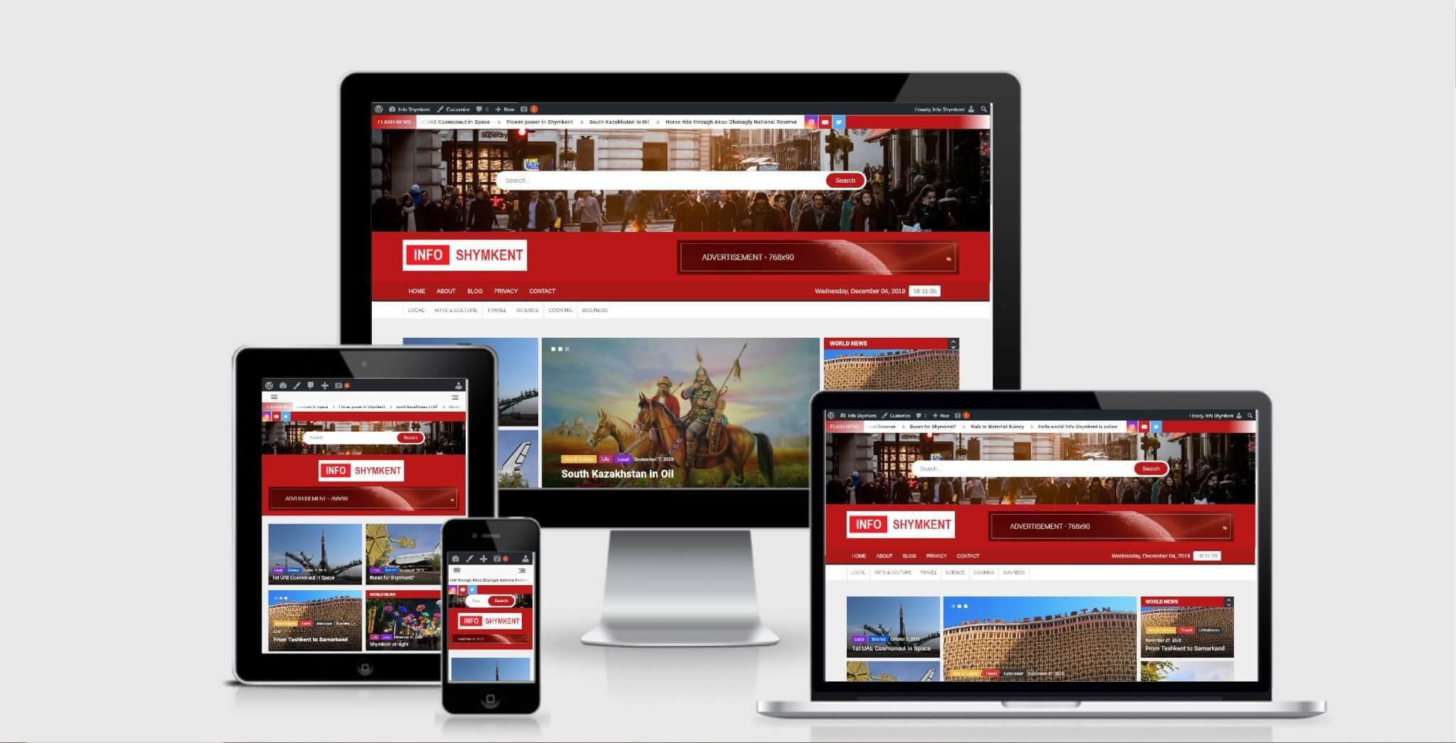 Info Shymkent is Online for Desktop, Mobile & Tablet
