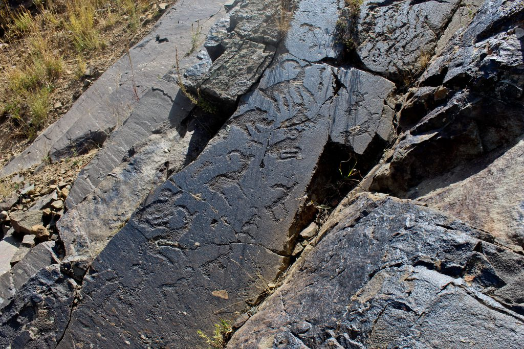 Petroglyphs in Aksu-Zhabagly National Reserve
