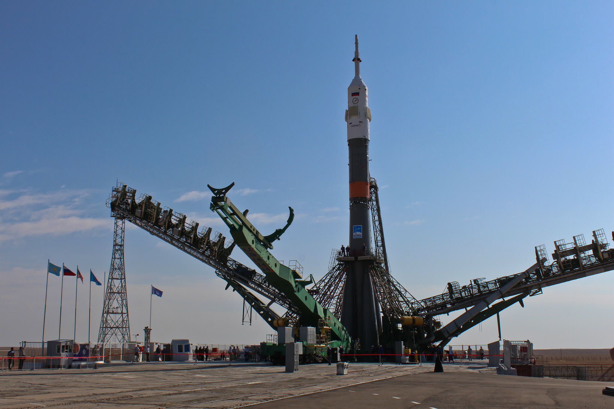 Info Shymkent - A Soyuz is preparing for launch in Cosmodrome Baikonur