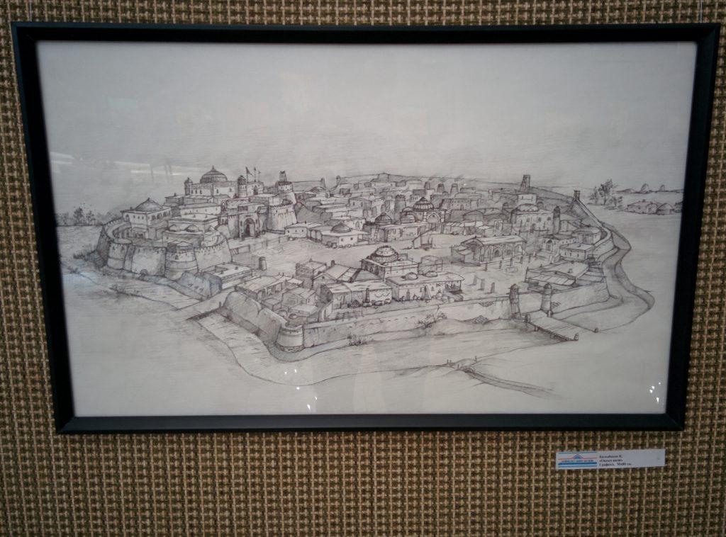 Info Shymkent - Drawing of the ancient city Otrar
