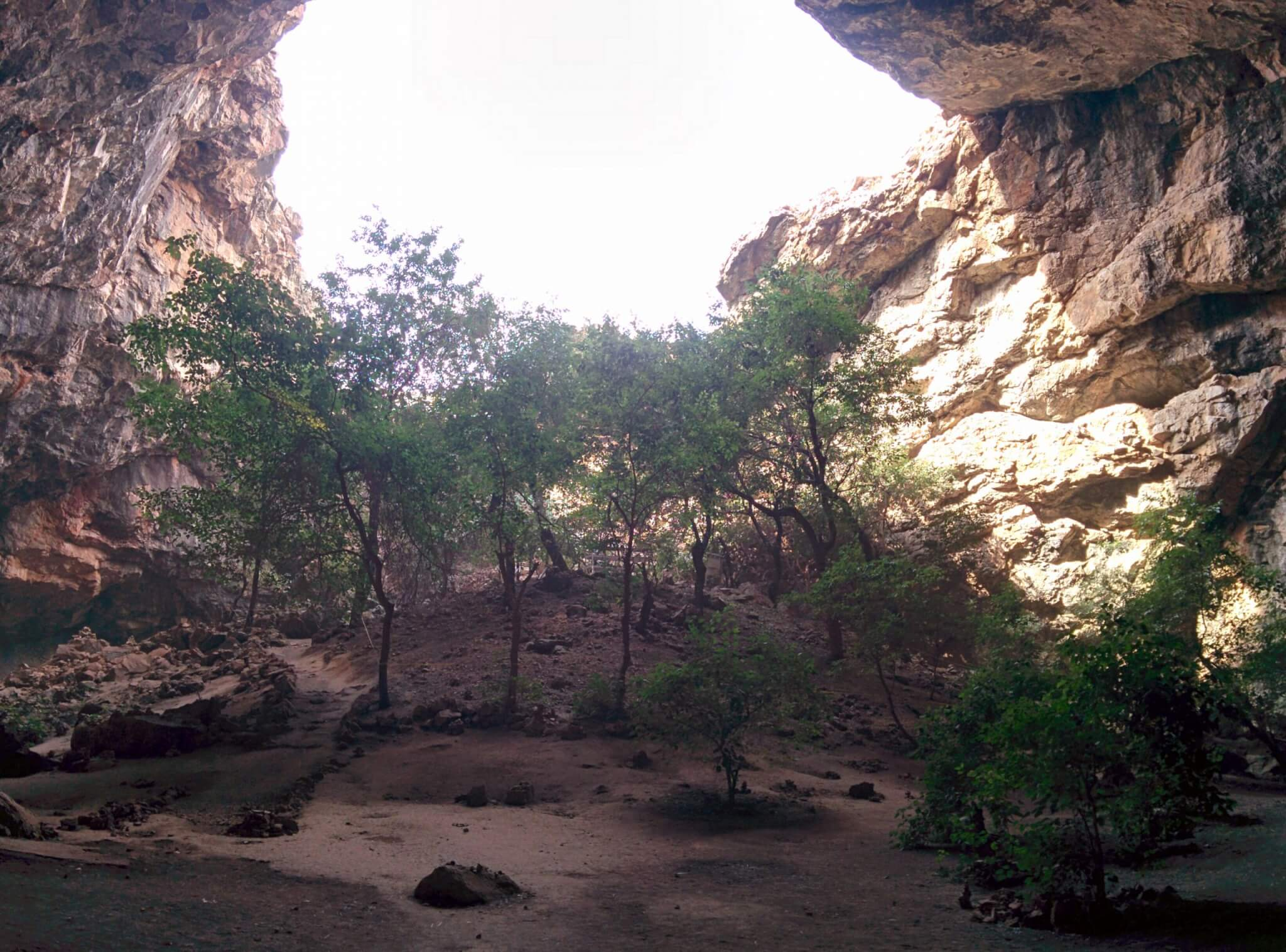 Akmechet cave is close to Shymkent