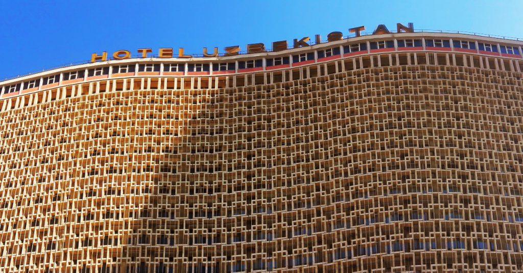 Info Shymkent - Panorama of  Hotel Uzbekistan.