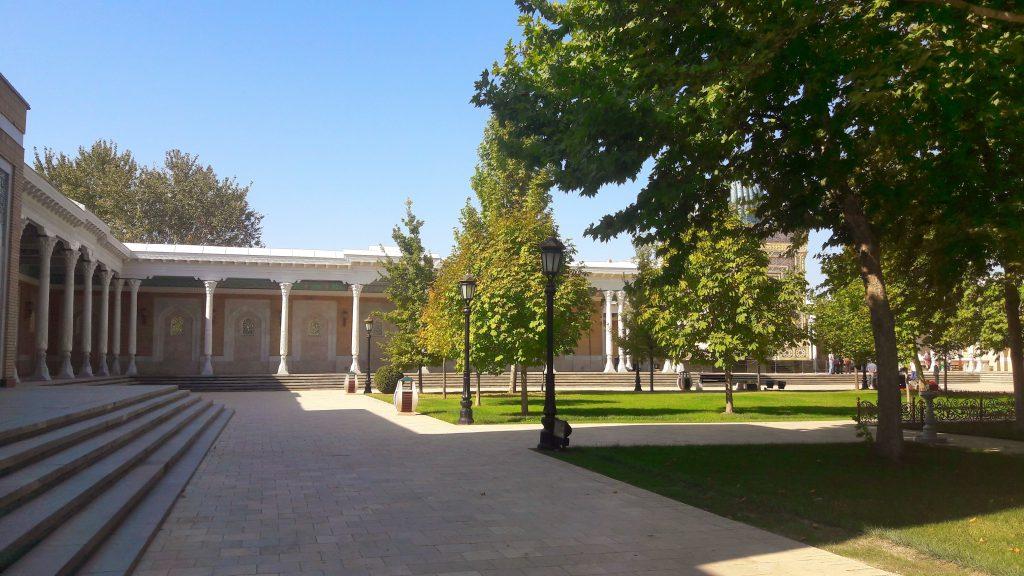 Info Shymkent - Garden at the Imam Al Bukhari's Mausoleum near Samarkand
