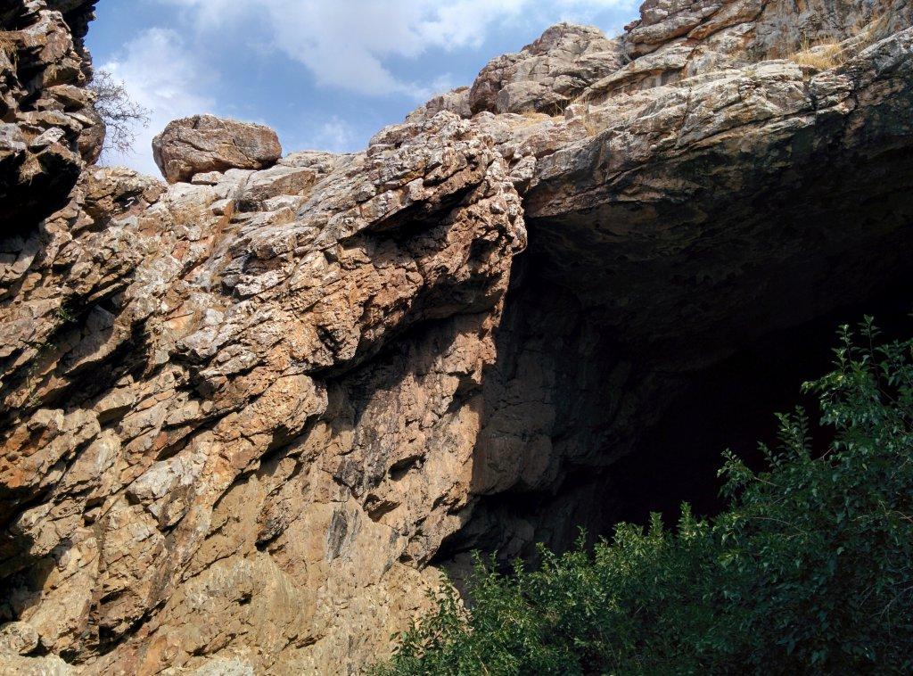 Info Shymkent - Entrance of the cave  Ak Mechet.