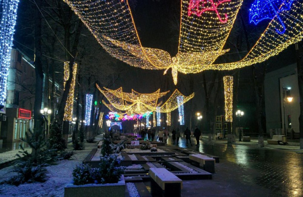 Info Shymkent - A thin blanket of snow is covering Shymkent's Arbat