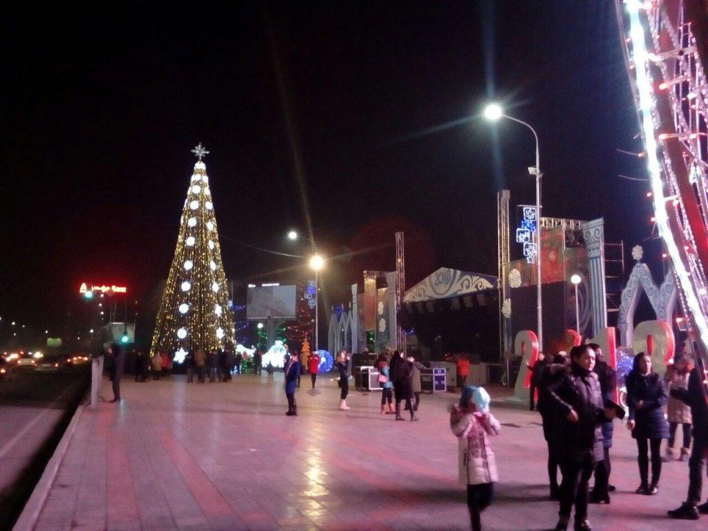 Info Shymkent - Bright decorations in Shymkent