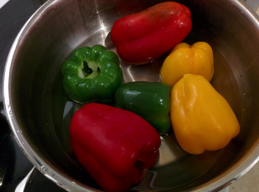 Info Shymkent - Remove the tops, seeds, and membranes of bell peppers.