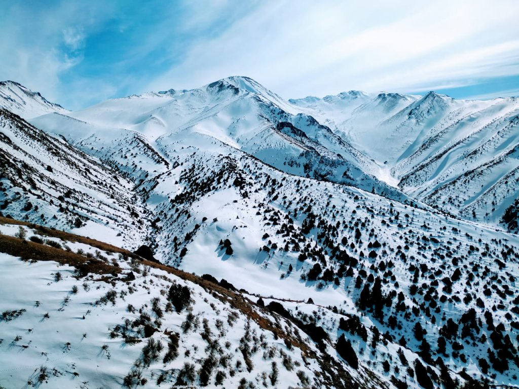 Info Shymkent - Winter in the Tian Shan Mountains close to Shymkent.