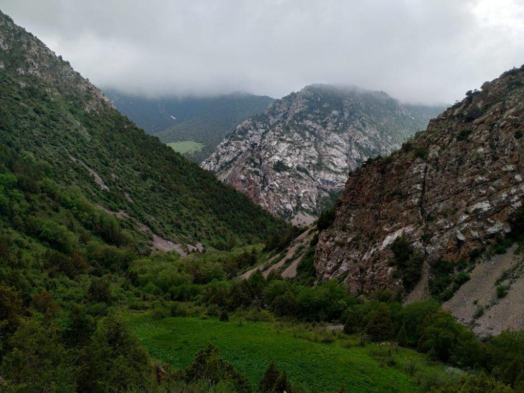 Info Shymkent - Foggy day in the Karatau Mountains in the Turkistan region of Kazakhstan