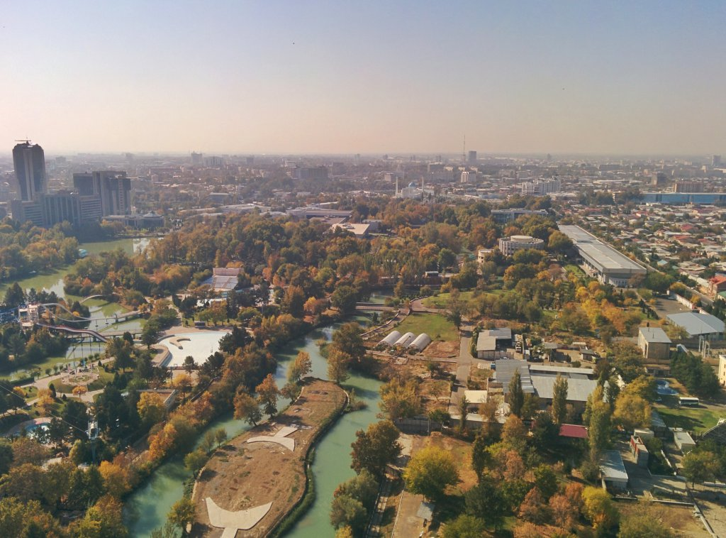 Info Shymkent - View to the city center of Tashkent