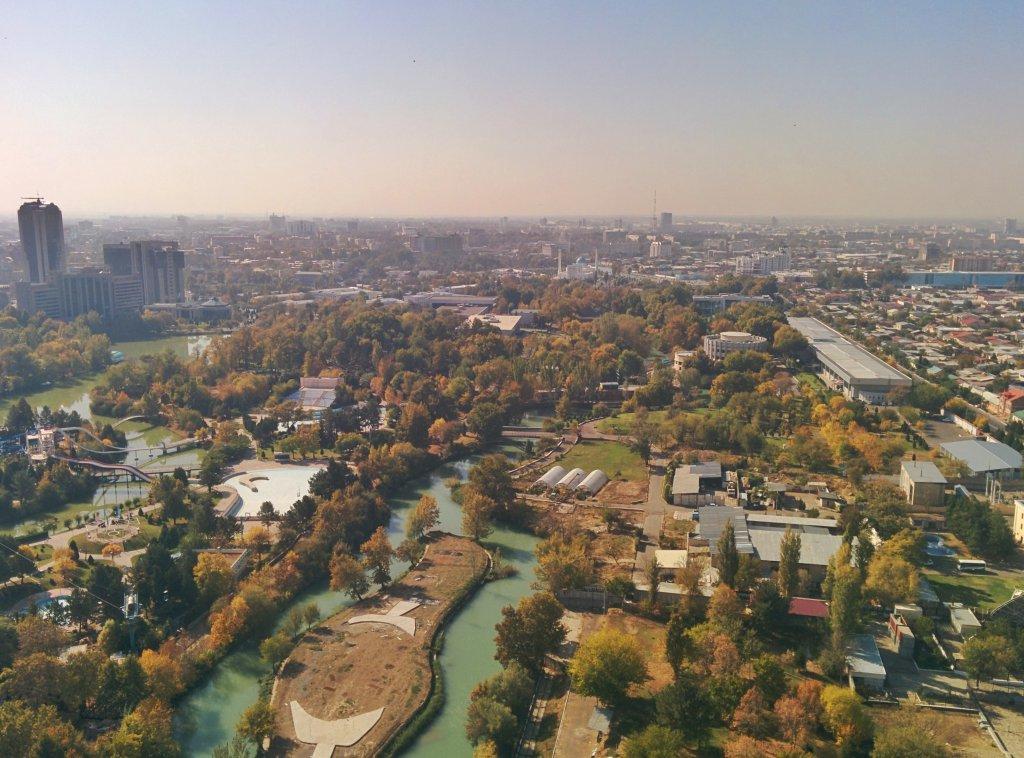 Info Shymkent - View to the city center of Tashkent