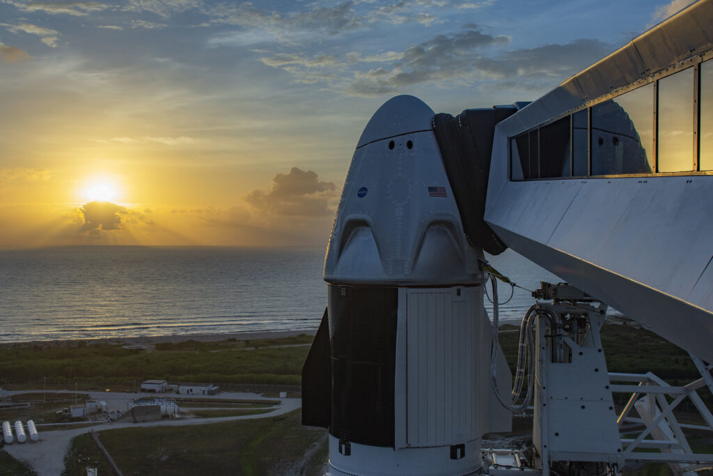 Info Shymkent - Crew Dragon is ready for its 1st crewed flight (Image: SpaceX)