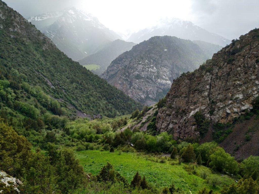 Mystic weather in the Sayram Ugam National park in south Kazakhstan.