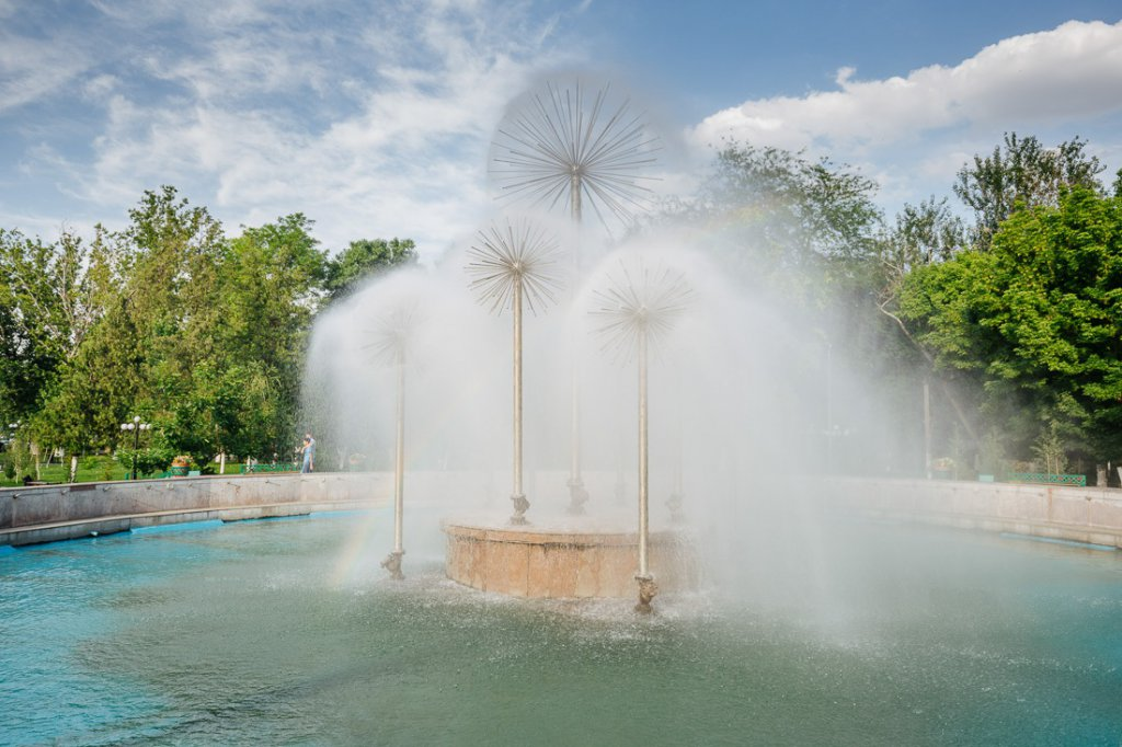 Info Shymkent - Water Fountain in Central Park, Shymkent