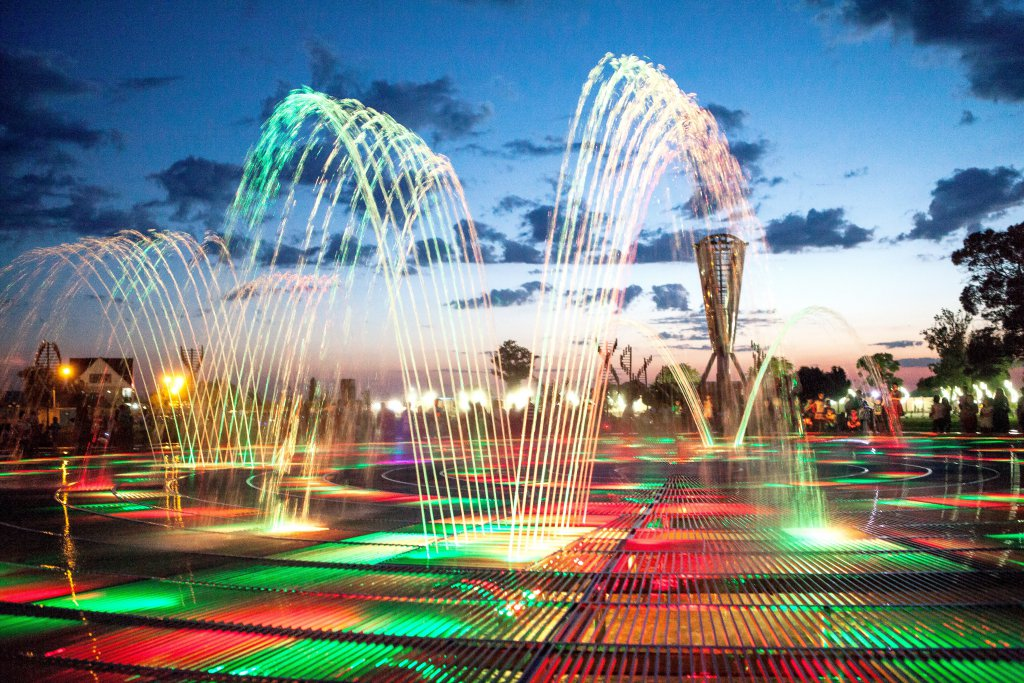Info Shymkent - Singing Fountain in Independence Park, Shymkent
