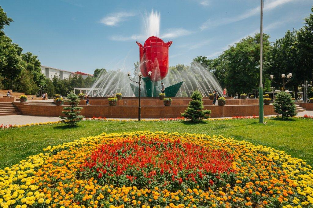 Info Shymkent - Tulip Fountain in Shymkent
