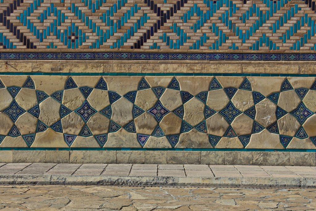 Info Shymkent - Beautiful ornaments on the Yassawi Mausoleum