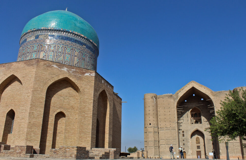 Info Shymkent - View of the Yasawi Mausoleum in Turkistan