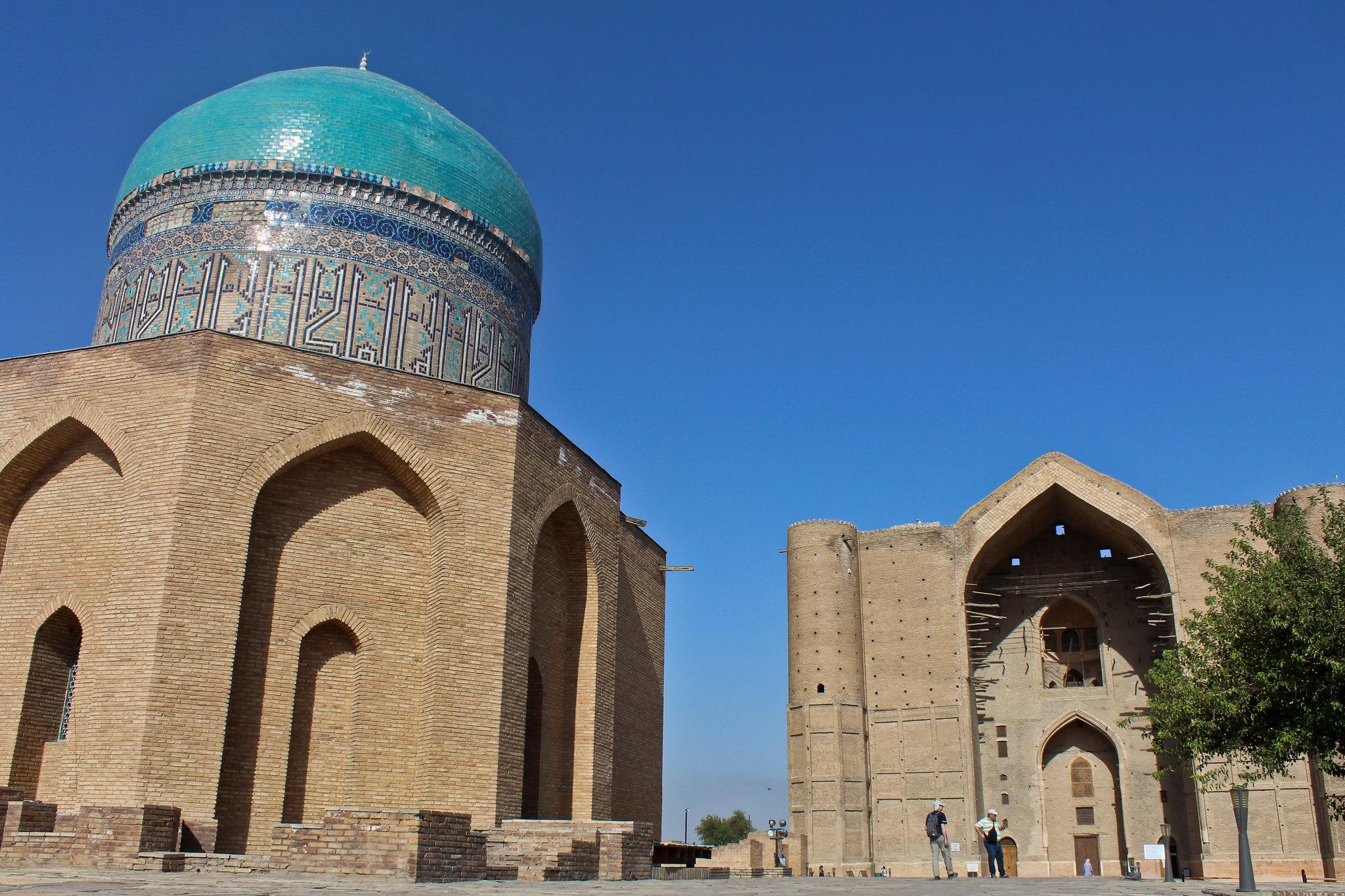 Info Shymkent - View of the Yasawi Mausoleum in Turkistan