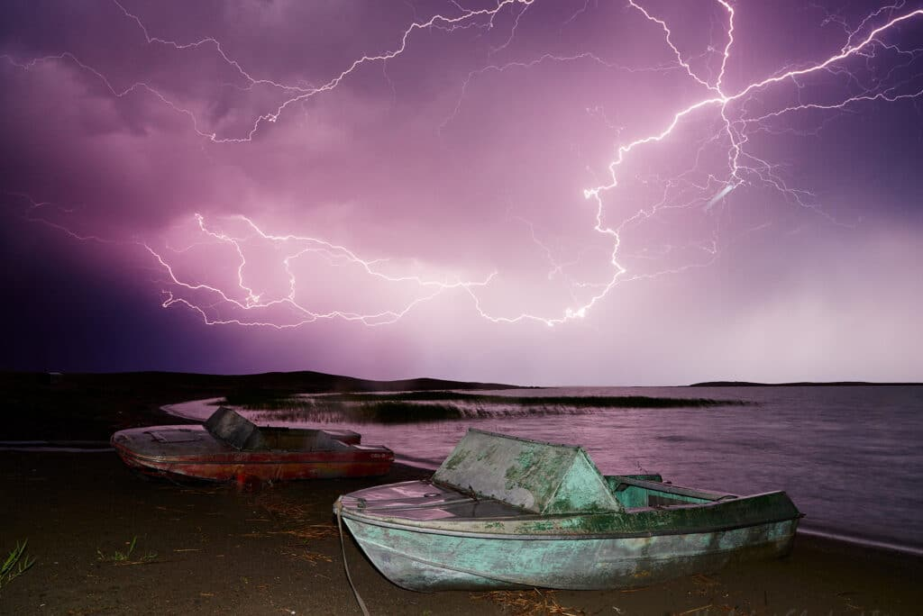 Info Shymkent - Thunderstorm over Lake Balkhash in Kazakhstan (Photographer: Yerbolat Shadrakhov)