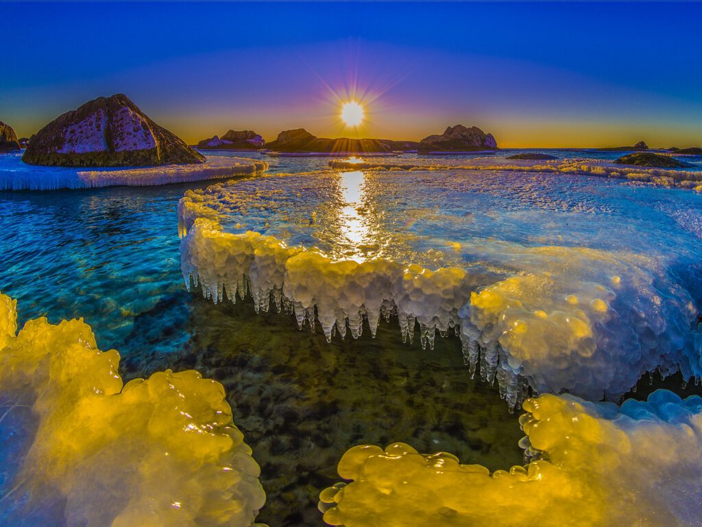 Info Shymkent - Iced coast in Kazakhstan (Image: Farhat Kabdykairov)