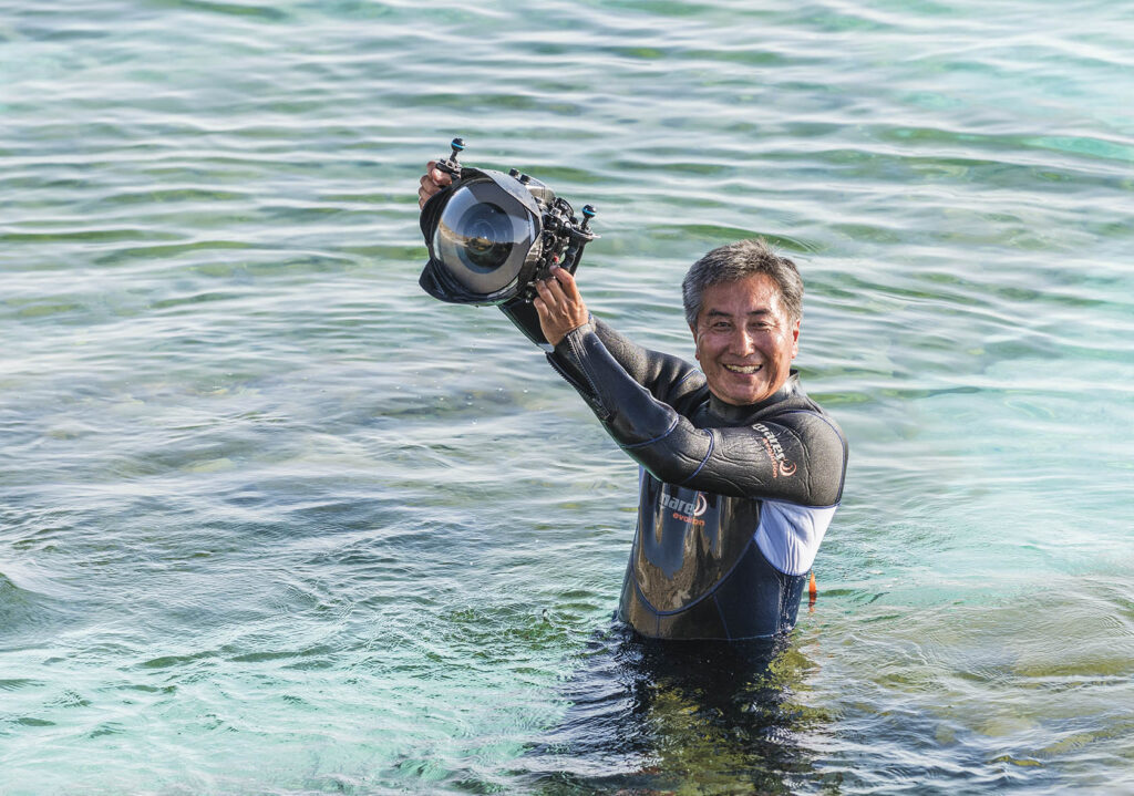 Info Shymkent - Photographer Farhat Kabdykairov after a successful diving session