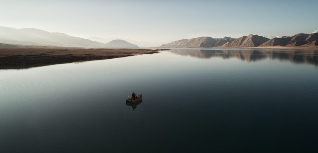 Info Shymkent - Nursultan Baikenov's Drone picture of a lonely fisherman