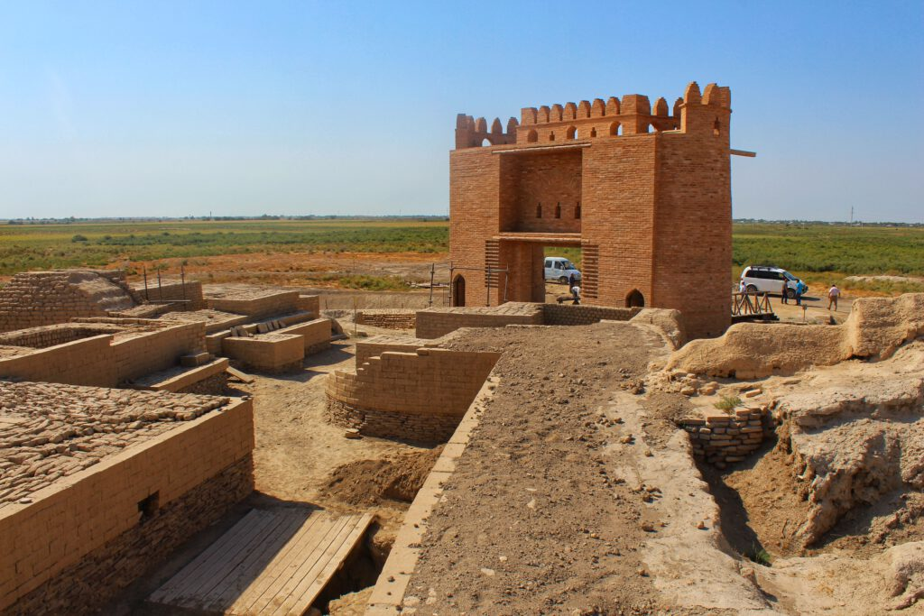 Info Shymkent - Reconstruction works at Otrartobe - the old silk road city Farab in Kazakhstan