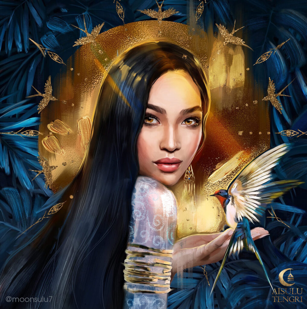 "Info Shymkent - Painting ""The Swallow"" by Kazakh artist Aisulu Almasbayeva"