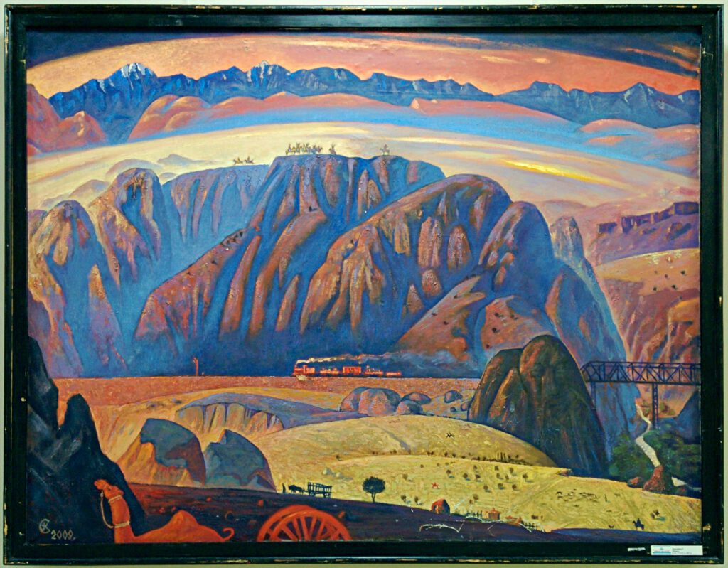 Info Shymkent - Painting of South Kazakhstan's Landscape at the beginning of the 20th century.