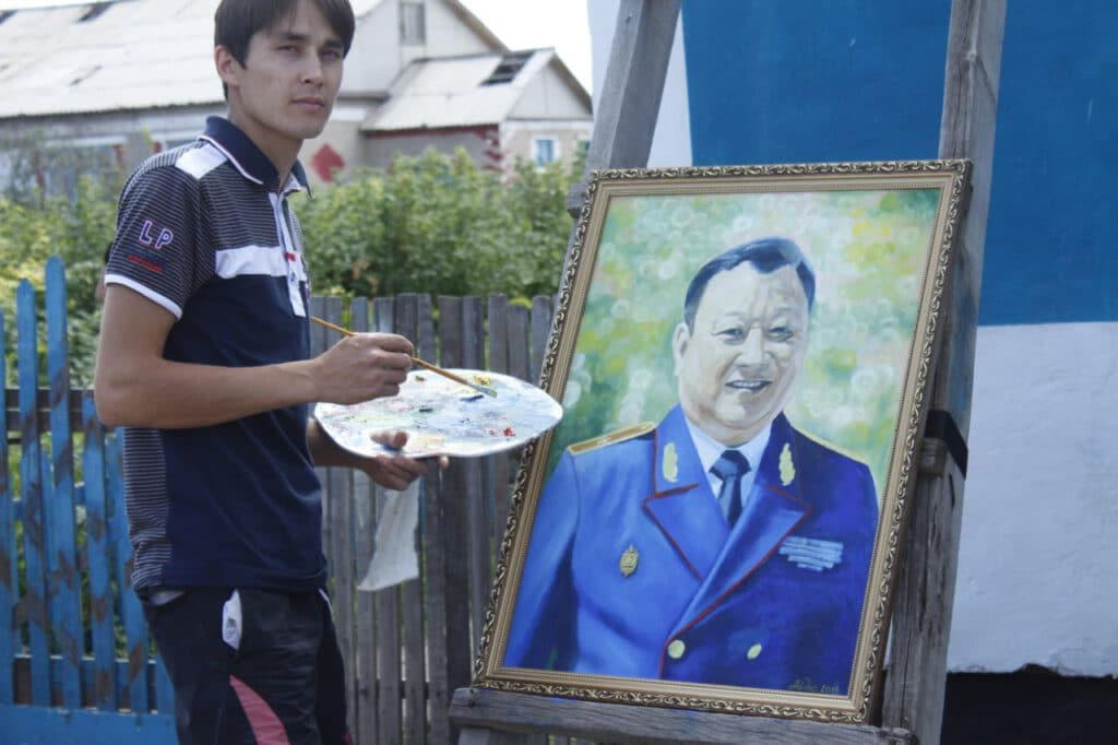 Info Shymkent - Another skill of Aidos Esmagambetov: Painting
