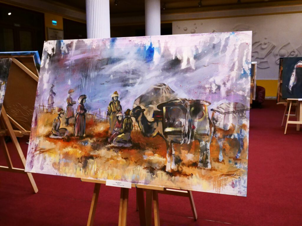 Info Shymkent - Beautiful piece of Art by Alua Tebenova showing the life in the Kazak steppe