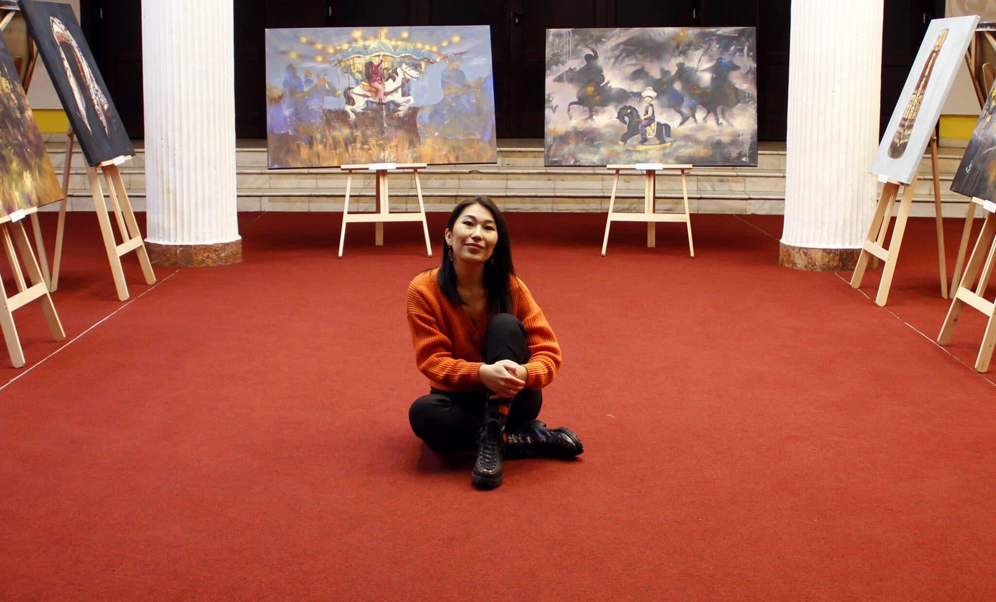 Info Shymkent - Kazakh Artist Alua Tebenova in her art exhibition
