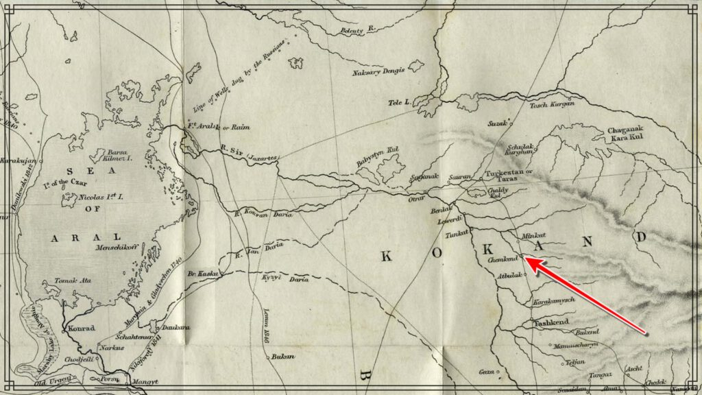 Info Shymkent - Shymkent on a Central Asia Map from 1856