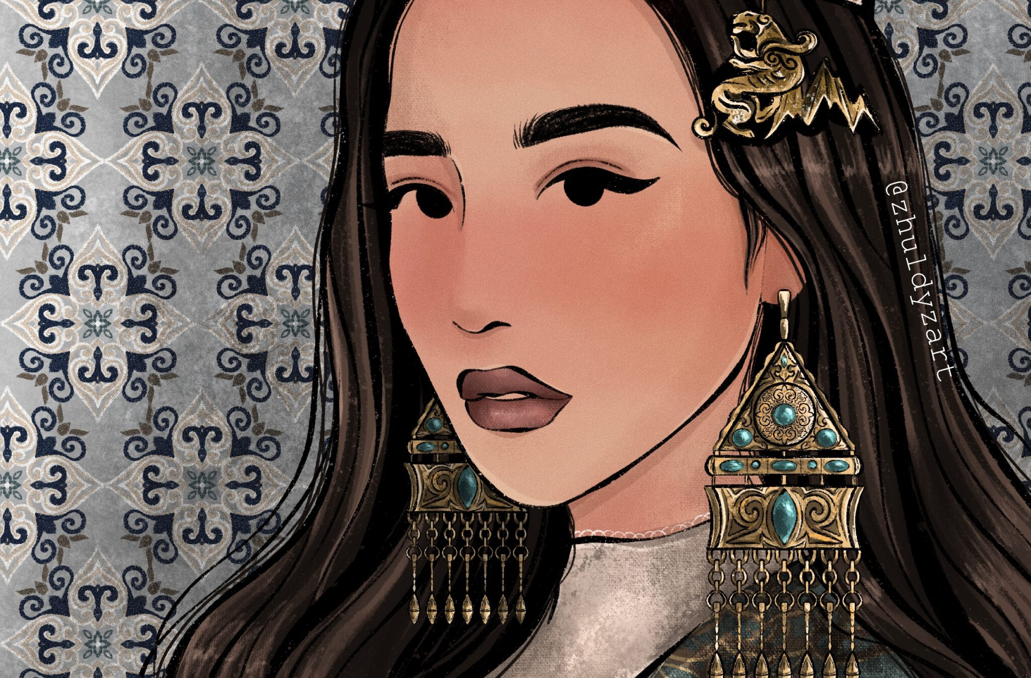Info Shymkent - Cover picture of the Interview with Artist Portrait of young Kazakh artist Zhuldyz Zholbarys from Almaty in Kazakhstan