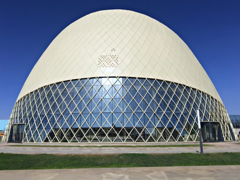 Info Shymkent - Back side of Khoja Ahmed Yasawi Museum in Turkestan (Image: Dome + Partners)