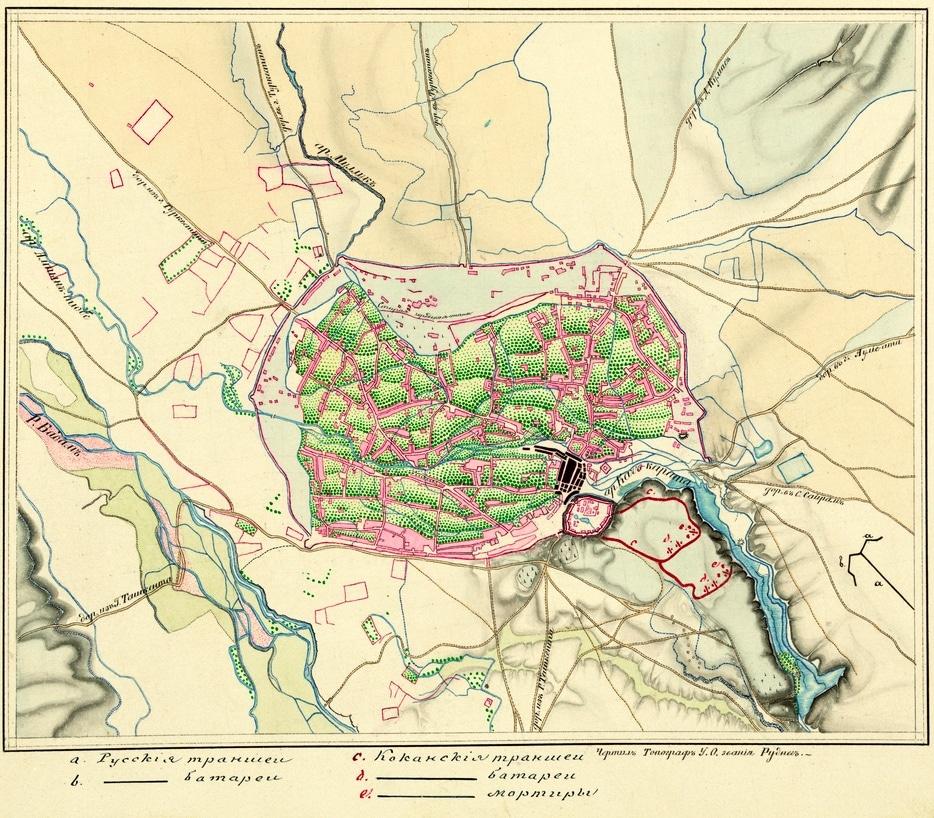 Info Shymkent - Map of Shymkent from 1864