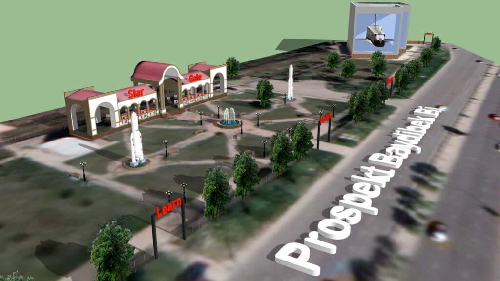 Info Shymkent - Buran exhibition in Tulpar rail station near Dendropark and Zoo in Shymkent
