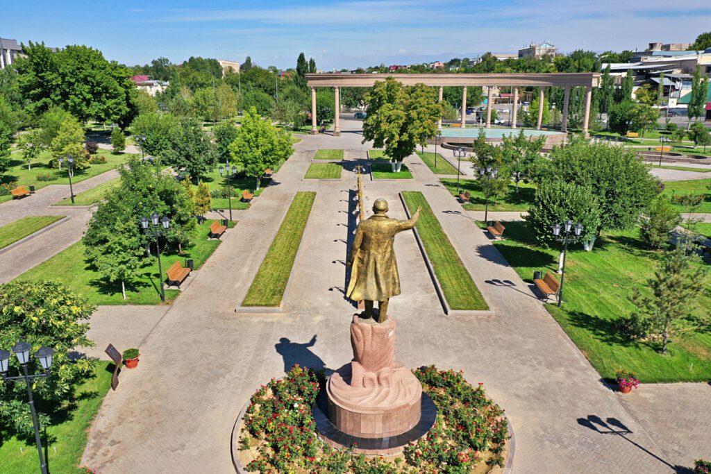 Info Shymkent - View over Park Shamshis World in Shymkent