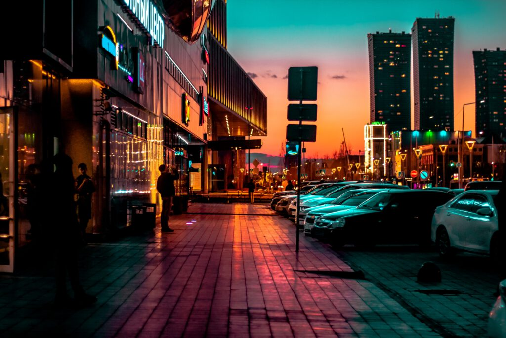 Info Shymkent - Photographer Zhambay captured this city life photograph during sunset in Nur-Sultan, Kazakhstan