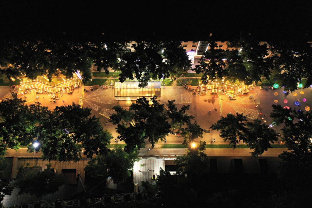 Info Shymkent - Pedestrian street Arbat at Night