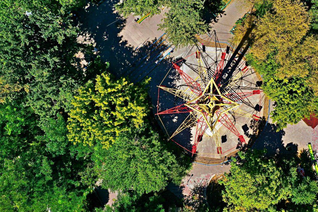 Info Shymkent - Shymkent from Above - Bayterek in Fantasy World