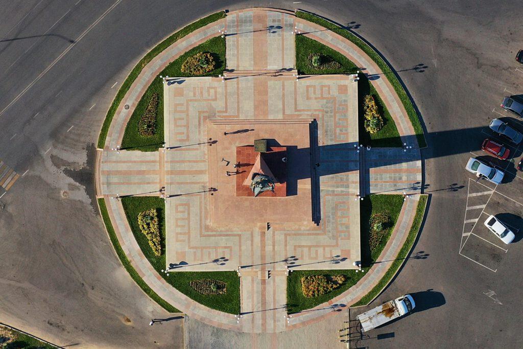 Info Shymkent - Shymkent from Above - Ordabassy Square