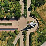 Info Shymkent - Shymkent from Above - World War II Memorial plane