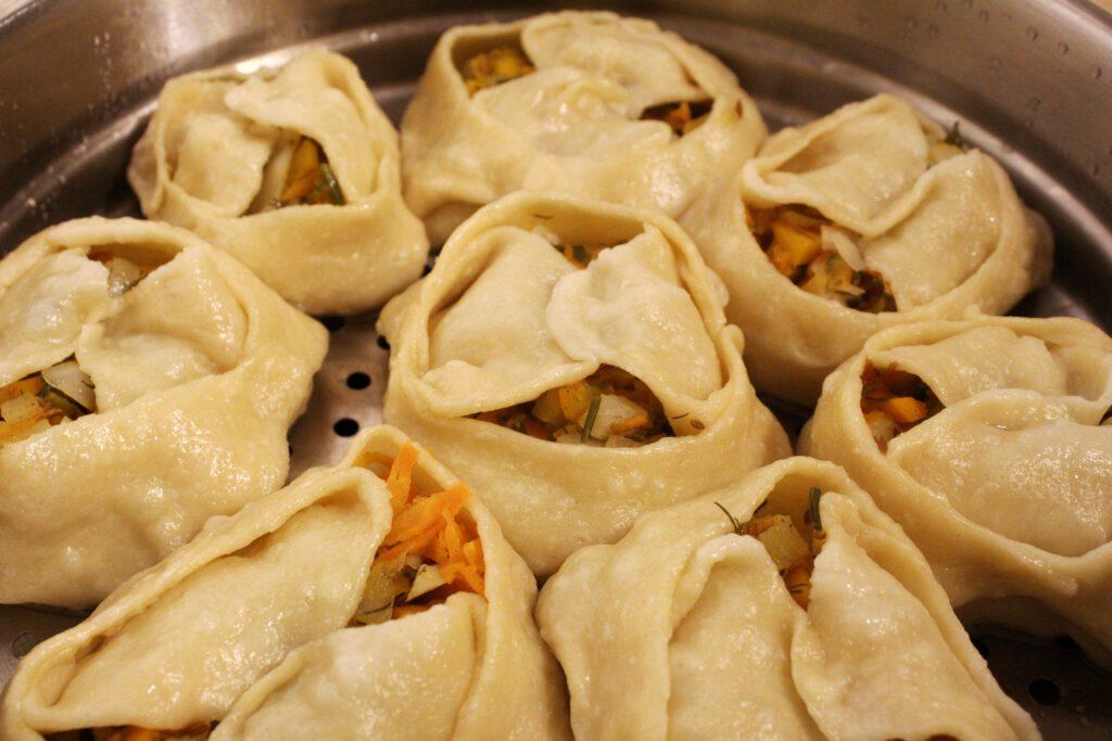The Kazakh dumplings Manti are ready!