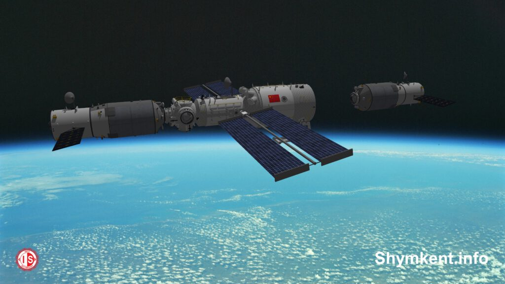 Info Shymkent - China's Tianzhou 3 cargo spacecraft is docking with Tianhe