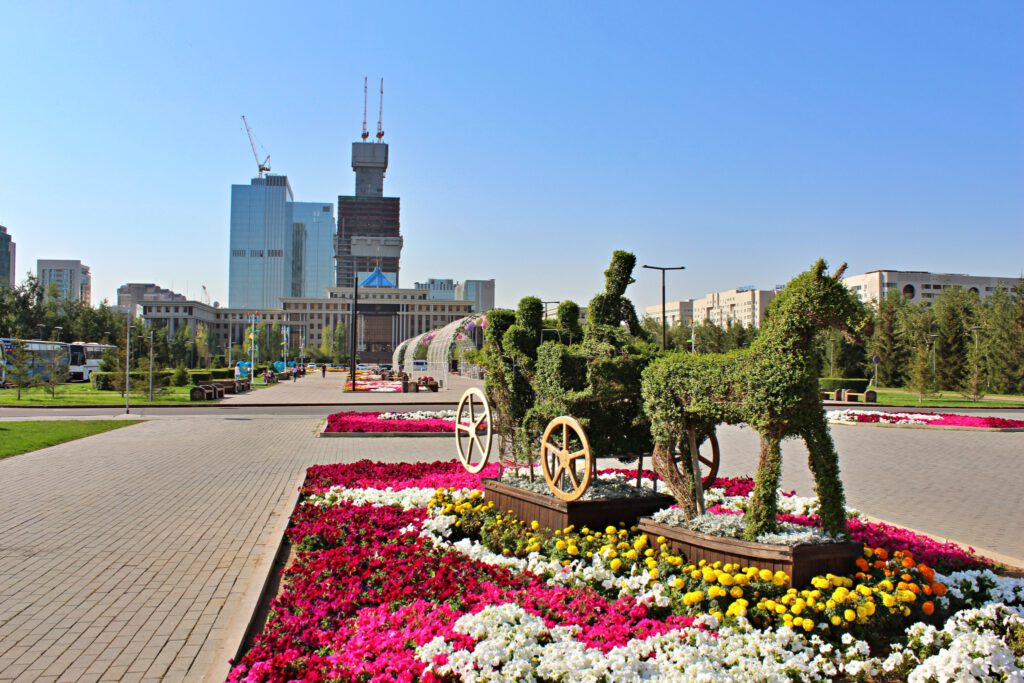Info Shymkent - View to the construction site of Abu Dhabi Plaza in Astana in 2017